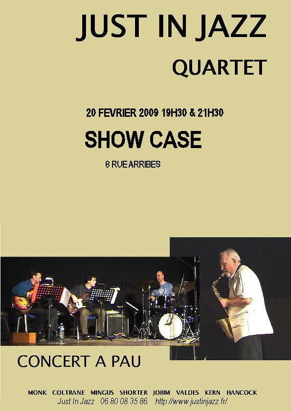 affiche concert just in jazz